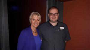President Ashley with mayor Pam Rothfield